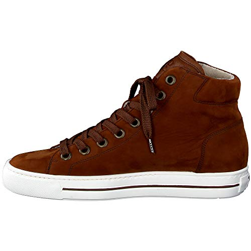 Paul Green Damen Super Soft Hightop-Sneaker, Frauen sportlicher Schnürer, Woman Freizeit leger Halbschuh schnürschuh Lady,Braun,5.5 UK / 38.5 EU