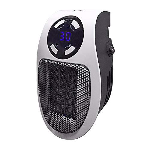 Lydul Mini-radiator, afstandsbediening voor kleine slaapkamers, intelligente temperatuurregeling, energiebesparend, lage geluidsontwikkeling, voor kantoor, badkamer