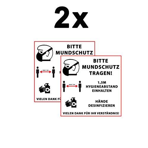 MS Car Sticker Bitte MUNDSCHUTZ TRAGEN! Warn & Hinweisaufkleber 3 (2)