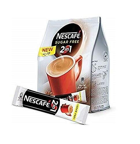 Nescafe Sugar Free 2 in1 25 Sticks 11.7g Each نسكافية قهوة مبيضة خالية من السكر 25 ظرف