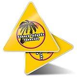 2 pegatinas triangulares de 10 cm Tenerife Sunset Travel Holiday Stamp Fun Calcomanías para ordenadores portátiles, tabletas, equipaje, reserva de chatarra, neveras #7128