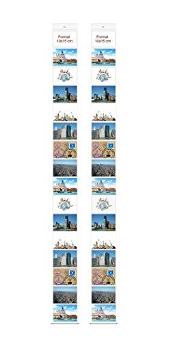 Trendfinding 2 Fototaschen 10 x 15 cm für je 16 Fotos Querformat Deko Foto Bilder Karten Halter Fotowand Fotovorhang Fotohalter Kartenhalter