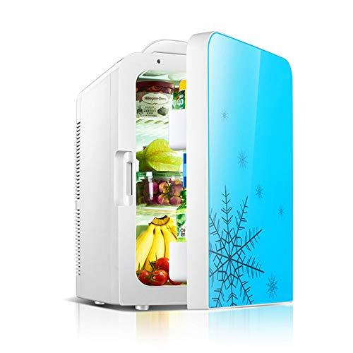YZT QUEEN Mini Nevera, Refrigerador Doméstico Portátil De 20 litros, Refrigerador Ultra Silencioso para Automóvil con Cable De Alimentación De CA/CC, Enfriador Y Calentador De Bebidas De Cerveza,Azul