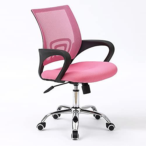 KZKR Silla ergonómica de oficina en el hogar con soporte lumbar y altura ajustable, silla giratoria para computadora de oficina, silla de trabajo de malla en la parte media de la espalda, 2 unidades