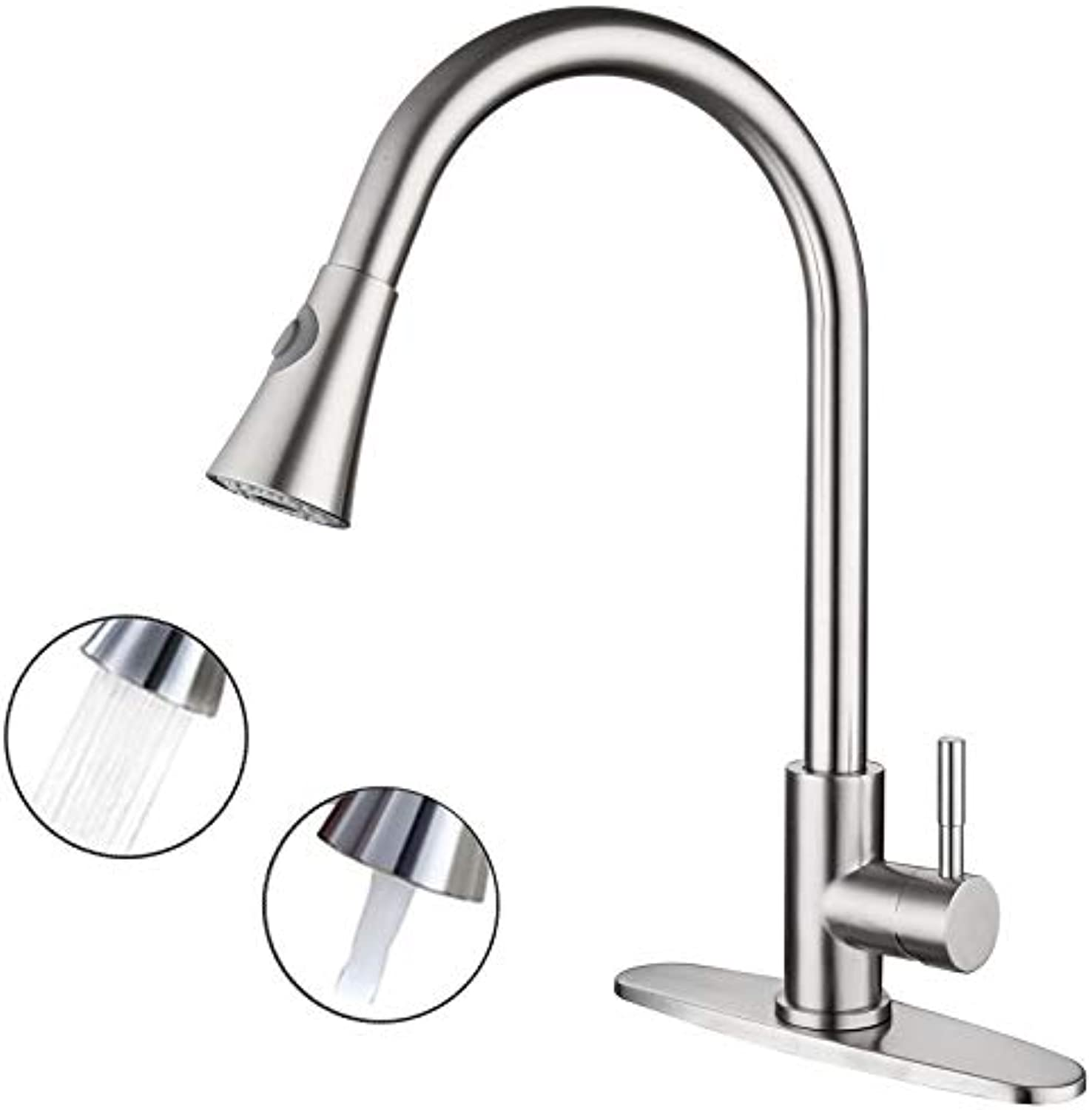 304 Stainless Steel Pull-Out Kitchen tap Vegetable Basin Sink redating Drawing tap