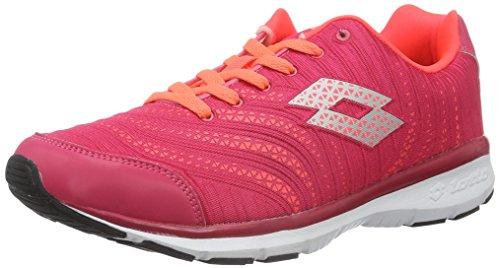 Lotto Wave AMF W, Zapatillas de Running Mujer, Rojo (Ger/Red FL), 36.5 EU