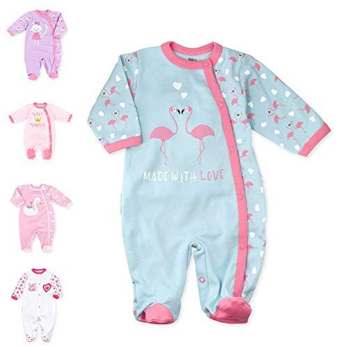 Baby Sweets Baby Strampler für Mädchen/Baby-Overall in Rosa Türkis als Schlafanzug und Babystrampler im Flamingo-Design für Neugeborene und Kleinkinder in der Größe: Newborn (56)