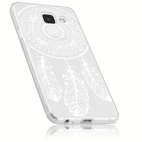 mumbi Hülle kompatibel mit Samsung Galaxy A3 2017 Handy Hülle Handyhülle dünn mit Motiv Traumfänger, transparent