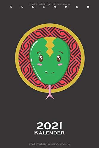 Schlange chinesischer Tierkreis Kalender 2021: Jahreskalender für Astrologie Fans und Menschens dieses Geburtsbildes