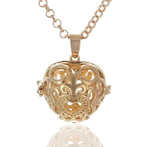 Colgante De Aromaterapia Qin Yin Beads Love Necumate Perfume Esencial Aceite Difusor Suéter Cadena Volcánica Piedra Aromaterapia Joyería-A