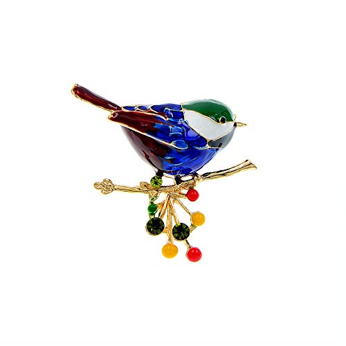 GLKHM Brooches for Ladies Vintage Enamel Bird Brooches Women Pin Fashion Accessories