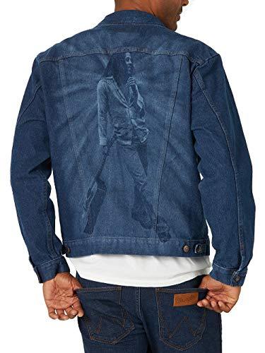Wrangler Men's Bob Marley Collaboration Denim Jacket, Blue, X-Large