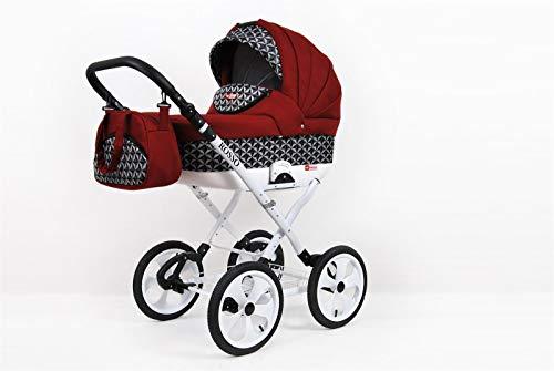 Cochecito de bebe 3 en 1 2 en 1 Trio Isofix silla de paseo Rosso by SaintBaby Optical Chilly 3in1 con Silla de coche