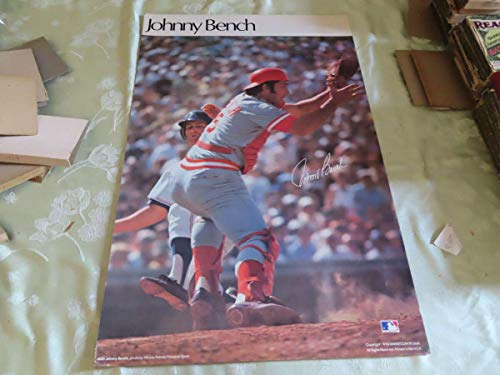 1978 Johnny Bench Cincinnati Reds display poster