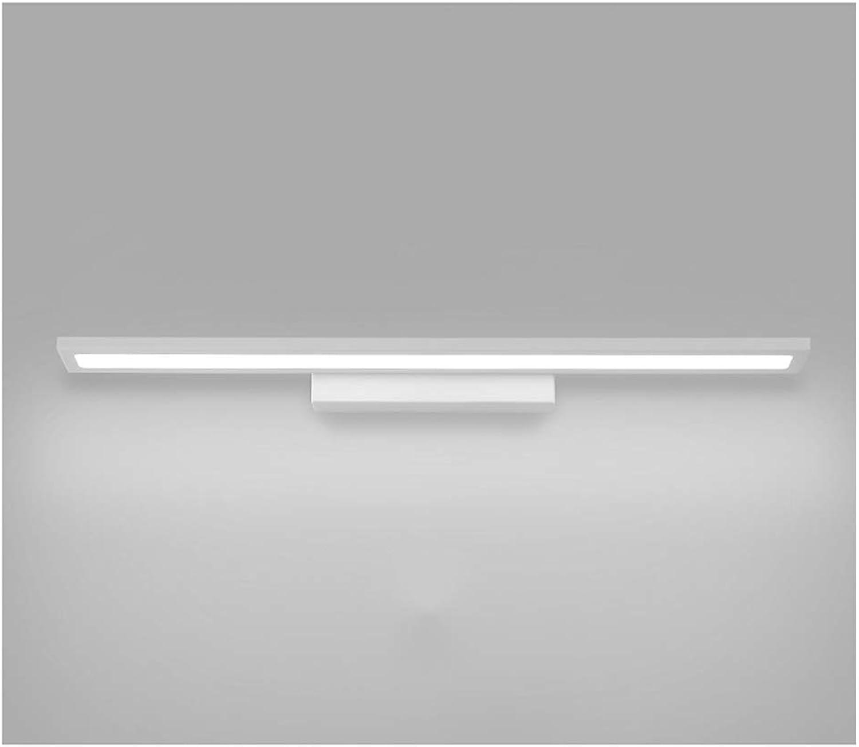 NIUZIMU Spiegellampen Geführte Spiegel-Scheinwerfer, Badezimmer-Kabinett-Frisierkommode moderner minimalistischer Spiegel-Kabinett wasserdichtes Anti-Fog -0223 (Farbe   Weiß Light, Größe   40cm)