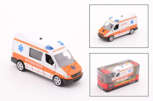 Smart Planet Super Cars Ambulance Krankenwagen mit Licht und Geräusch Spielzeug Auto für Kinder zum Spielen