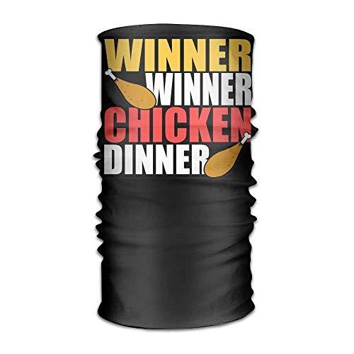 FAFANIQ Winner Winner Chicken Dinner Pubg Headwear For Men And Women-Yoga Sports Travel Workout Wide Headbands,Neck Gaiter,Bandana,Helmet Liner,Balaclava,Hair Turban,Scarf