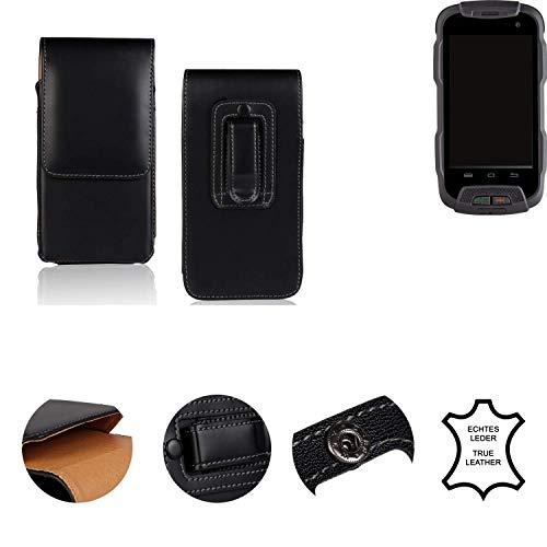K-S-Trade® Gürtel Tasche Für Cyrus CS 23 Handy Hülle Leder Schwarz, 1x