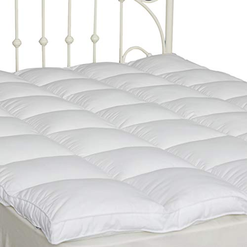 Twin Pillow Top Mattress Cover Plush Down Alternative Mattress Topper 2' Thick Overfilled, Fluffy and Firm with 4 Straps Hotel Quality(39''x75'')