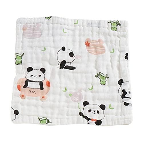 Baby Burp Cloths Niño a prueba de agua Saliva Toalla de algodón cuadrados pandilla panda, babero babero