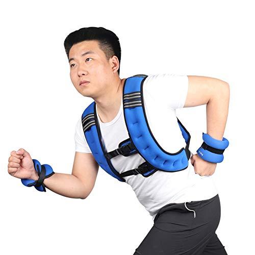 APOE Gewichtsweste, Trainingsweste mit Gewichten 3kg, 5 kg, 8Kg, 10Kg Bequeme Laufweste mit Verstellbarer Schnalle für Gewicht Training, Krafttraining, Laufen, Fitness, Cross Training