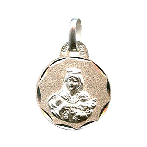 Medalla Virgen del Carmen 13 MM Plata DE Ley