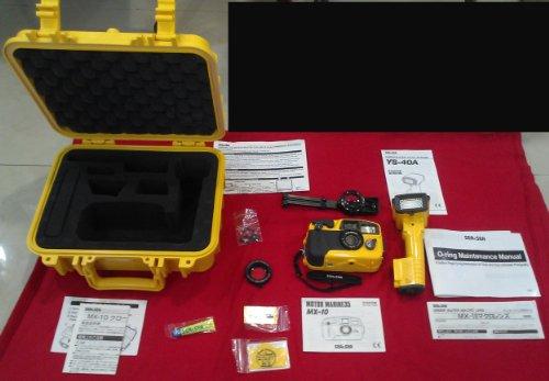 Sea & Sea MX-10 - Kit de cámara subacuática con enfoque automático de 35 mm con estroboscopio YS-40A
