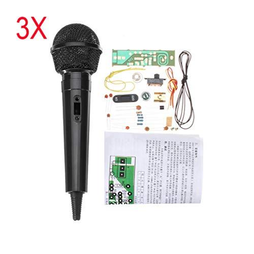 Yongse 3-delige FM-microfoon, draadloos, elektronische set, FM-training