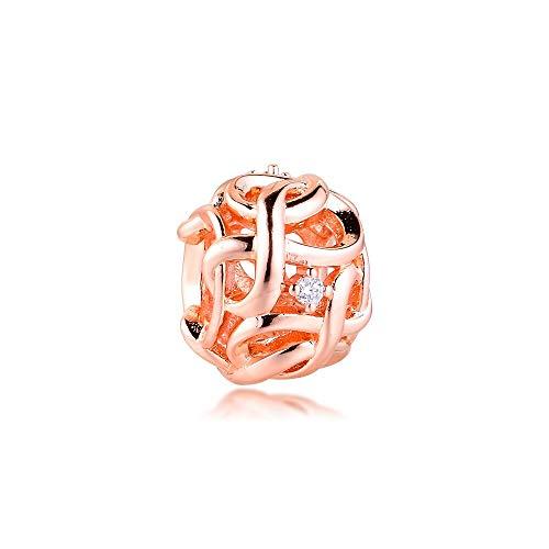 Pandora 925 Sterling Silver DIY Jewelry CharmPendants para pulsera accesorio estilo infinito tela joyería compatible