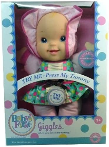 Baby's First Giggles Doll Especially Designed for Babies by The Goldberger Company
