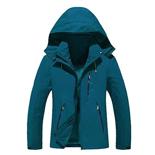 Windbreaker Quick Dry Lovers\' Clothes Men Women Waterproof Windproof Hooded Outdoor Sports Jacket Gr. 48, blau