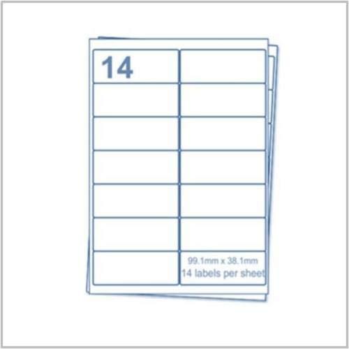 EJRange 14 Etiketten pro A4-Blatt, 100 Blatt 1400 Etiketten insgesamt, selbstklebende Adressversand-Druckeretiketten - Kompatibel mit Tintenstrahl- und Laserdruckern