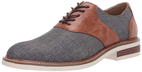 Unlisted by Kenneth Cole Men's Jimmie Saddle Oxford, Brown/Grey