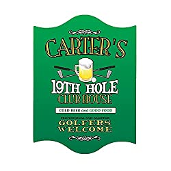 Personalized 19th Hole Golf Club Sign