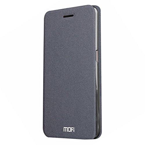 Schöne Hülles und Covers MOFI Smartisan T2 Verrückte Pferd Textur Horizontale Flip Leder Tasche mit Halter (Farbe : Grau)