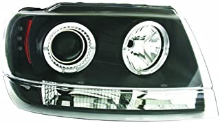 IPCW CWS-5002B2 Clear Projector Headlight with Black Housing - Pair