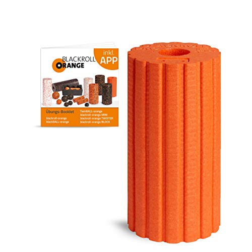 Blackroll Orange Groove Ultra Die Faszienrolle, inkl. Übungsbooklet