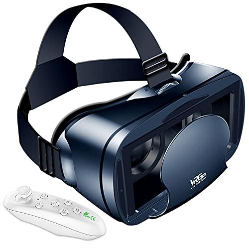 【Twinklg VRゴーグル】 vr ゴーグルスマホ用 VRヘッドセット VRマウントディスプレイ VRメガネ VR用 Bluetoothリモコン付 5~7インチスマホ対応 近視/遠視適用 ヘッドバンド調節可 日本語取扱書付【12カ月安心保障】 入学祭プレゼント