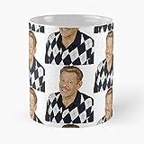 Jerry Costanza Queens of Stiller Ben George Spooner King Arthur Frank Best Taza de café de cerámica de 315 ml con texto en inglés 'Eat Food Bite John Best Taza de café de cerámica de 315 ml