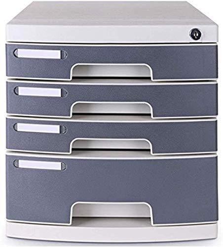 Archivadores Armarios de Archivos Teclas Verticales de Bloqueo de 4 Cajón Resina Archivo contenedor de Almacenamiento de Tejido - Gris 30.2X39.5X32.5cm Inicio Muebles de Oficina Caja de Archivo