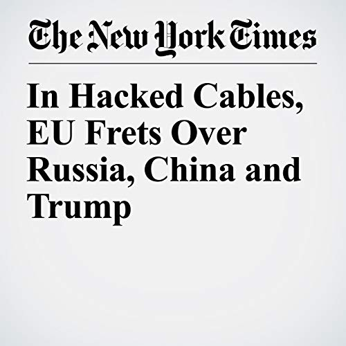 In Hacked Cables, EU Frets Over Russia, China and Trump audiobook cover art