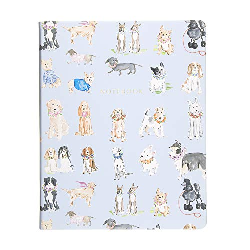 Eccolo Beth Briggs Desk Size Hardcover Journal, 256 Lined Page Notebook, 8-x-10-inch, Dogs