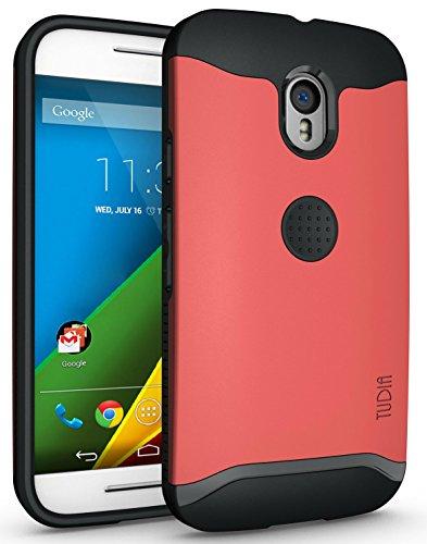 Motorola Moto G 3 (3rd Gen 2015 Released) Funda, Caja Protectora TUDIA Slim-Fit Merge de Doble Capa para Motorola Moto G 3 (3rd Gen 2015 Released) (Rojo)