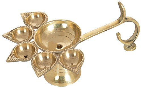 Generic Sataanreaper Presents Messing 5 Deepak Set (Paanch Diya) Für Puja Und Festive Home Decoration # Sr-050