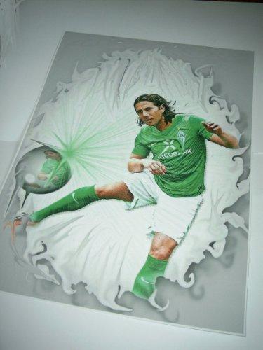 CLAUDIO PIZARRO echt cooler Kunstdruck - direkt vom Künstler 30cm x 42cm