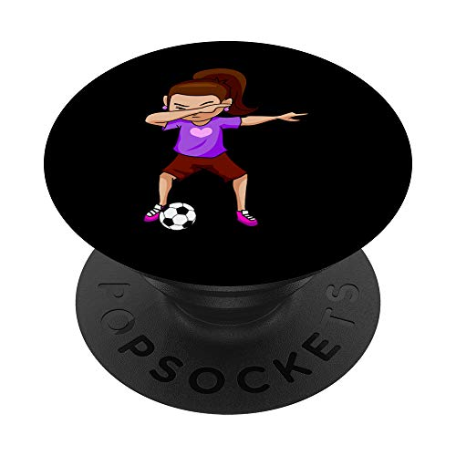 Dabbing Soccer Girl   Football Player Girls Tee PopSockets PopGrip: Swappable Grip for Phones & Tablets