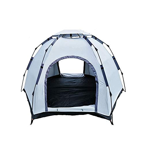 GJHT Outdoor Camping Tent Automatic Tent Outdoor Camping 3 People 4 People Thickening 2 People Outdoor Camping Easy to Build a Tent by Yourself (Color : 2 doors+1 skylight, Size : 5-8people)
