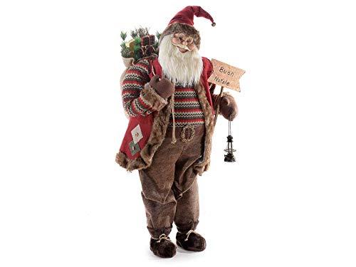 Gruppo Maruccia Babbo Natale Gigante Decorazione per vetrine e Negozi