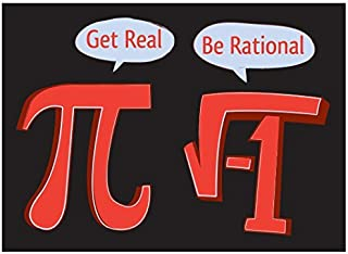 "Get Real Be Rational MAGNET - 3.5"" x 2.5"" - Heavy Duty Magnet Made From High Quality Materials"