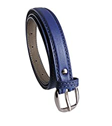 Krystle Girls PU Leather Belt (Blue, Free Size)